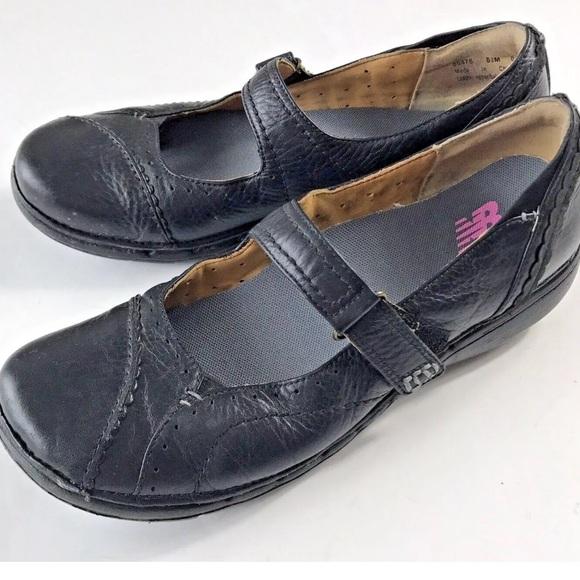 Balance Mary Janes Shoes Leather Black